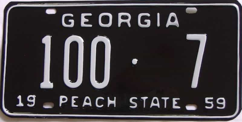 YOM RESTORED 1959 GA license plate for sale