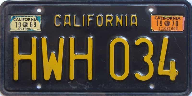 1970 CA (Single) license plate for sale