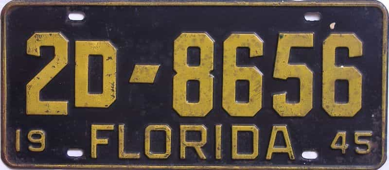 1945 Florida license plate for sale