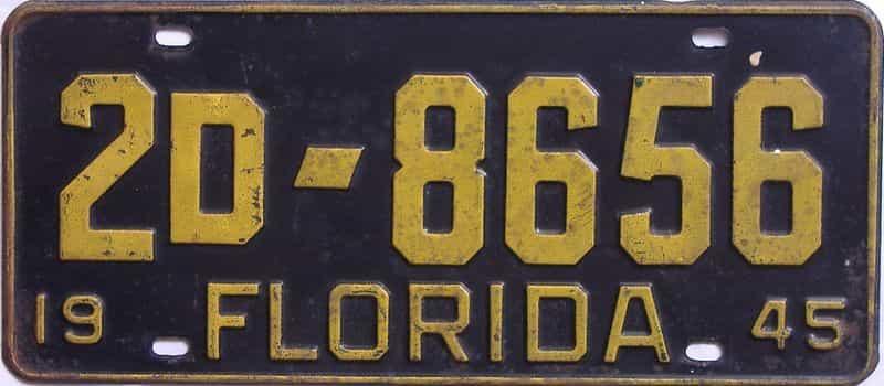 1945 FL license plate for sale