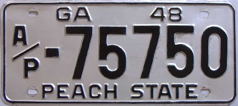 1948 GA (Truck) license plate for sale