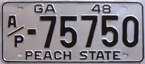1948 Georgia (Truck) license plate for sale