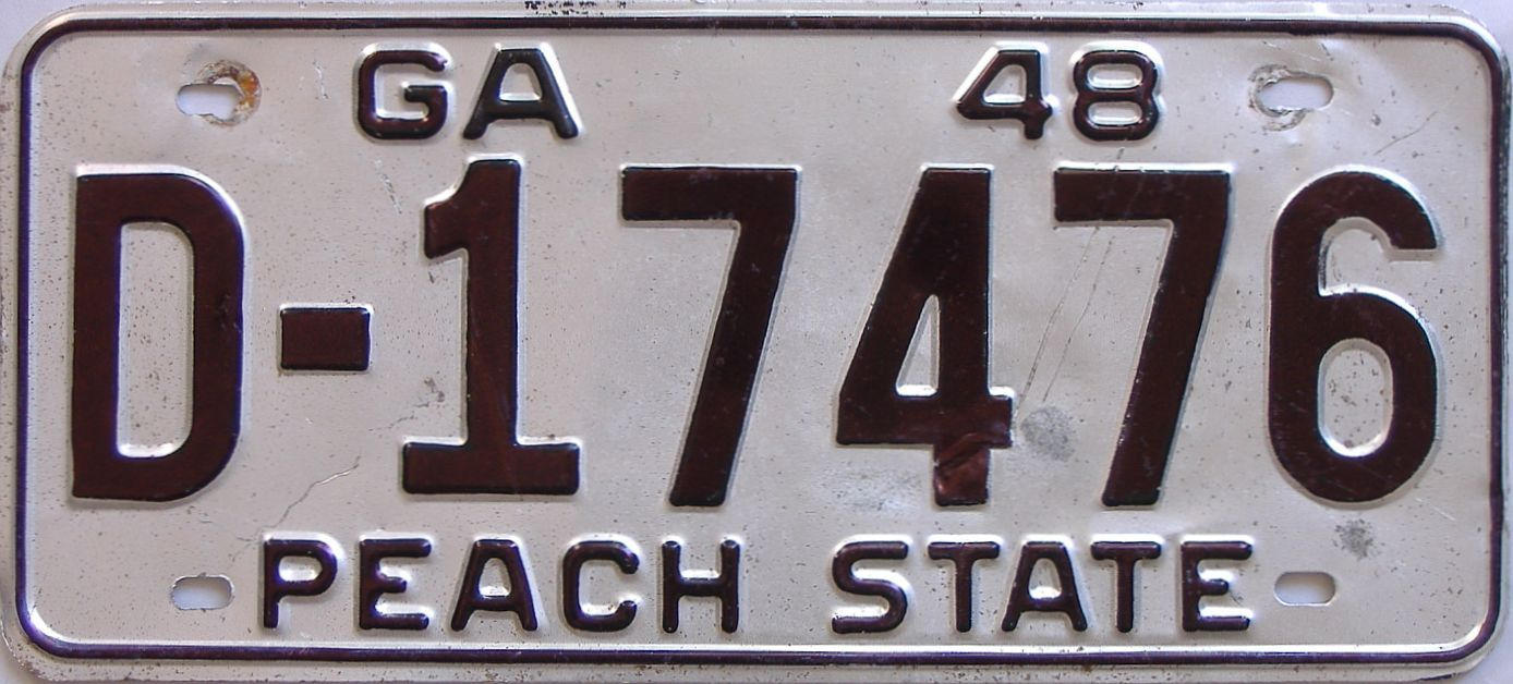 YOM 1948 Georgia license plate for sale