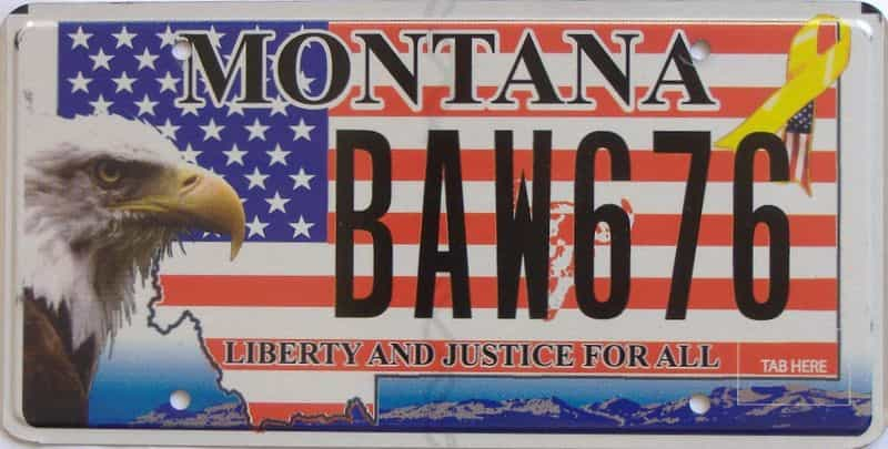 Montana license plate for sale