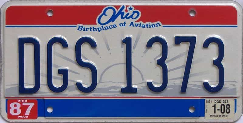 2008 Ohio (Single) license plate for sale
