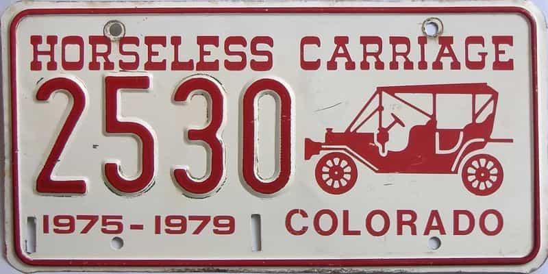 1975 Colorado license plate for sale