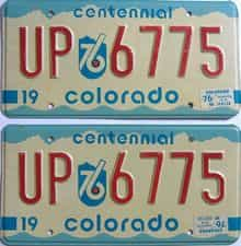 1976 Colorado (Single) license plate for sale