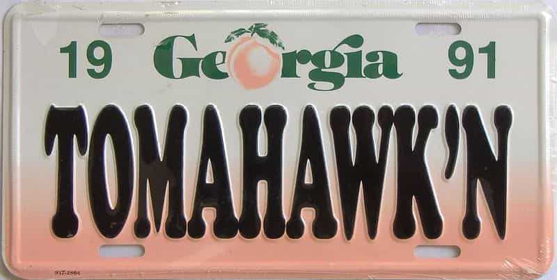 1991 Miscellaneous license plate for sale