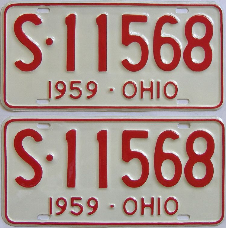 RESTORED 1959 Ohio (Pair) license plate for sale