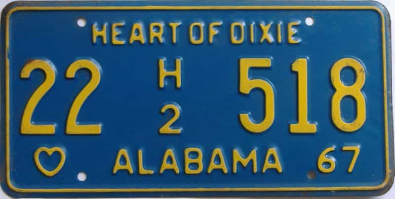1967 Alabama (Truck) license plate for sale