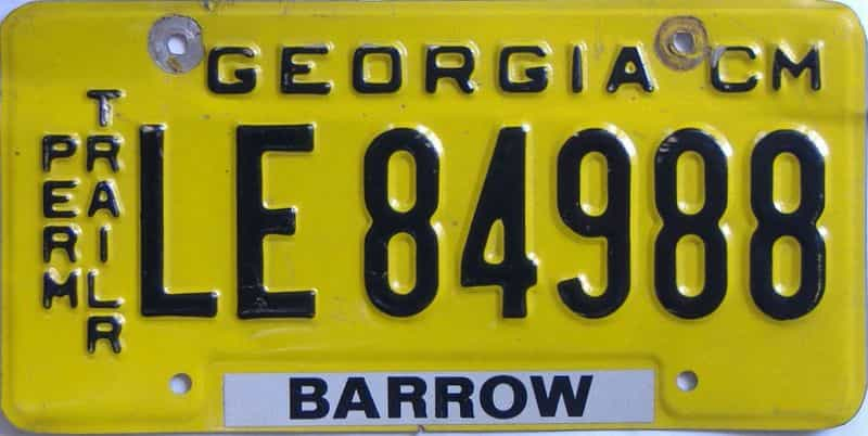 GA (Trailer) license plate for sale