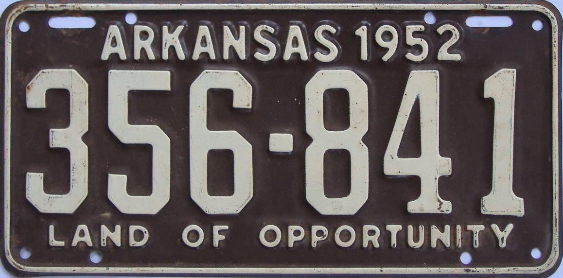 1952 Arkansas license plate for sale