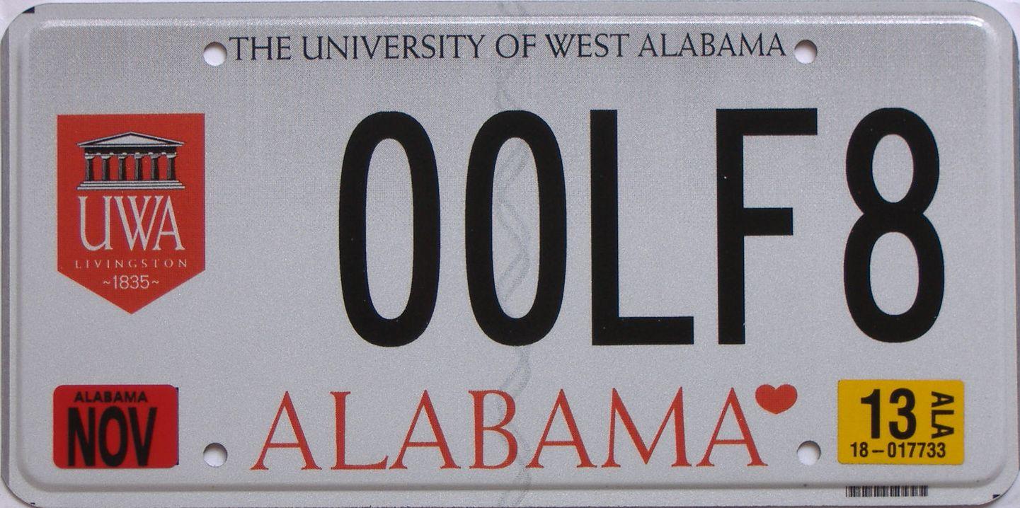 Alabama license plate for sale