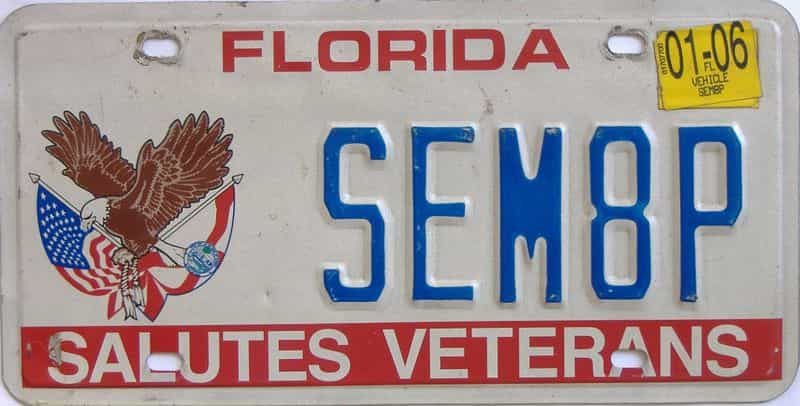2006 Florida license plate for sale