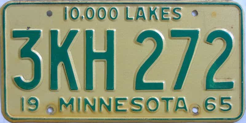 1965 MN (Single) license plate for sale