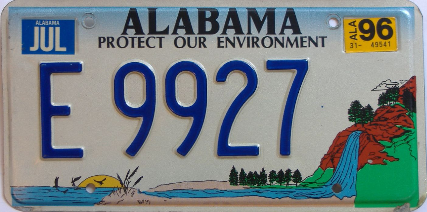 1996 AL (Natural) license plate for sale