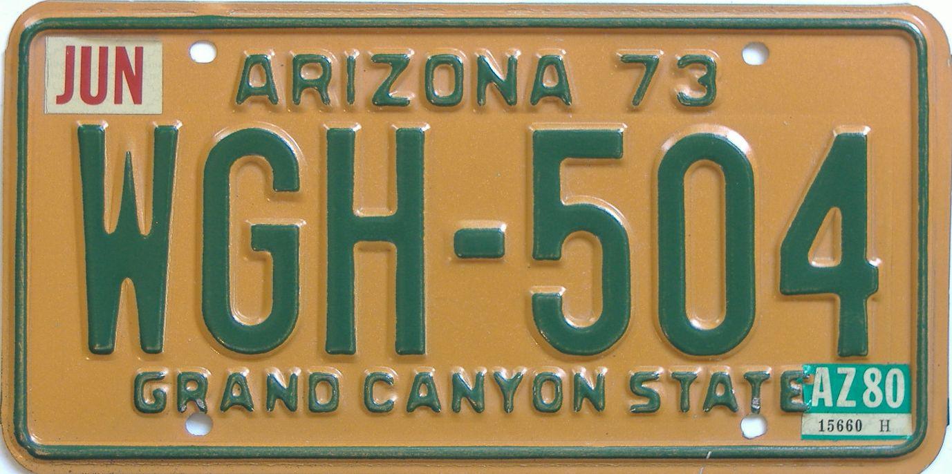 1980 Arizona (Natural Single) license plate for sale