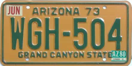1980 Arizona (Natural Single) license plate for sale