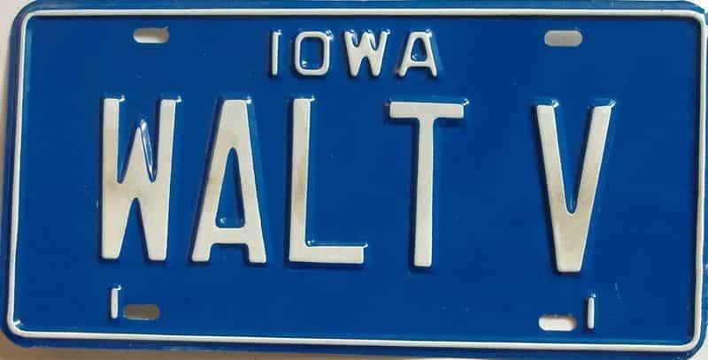 Iowa (Vanity) license plate for sale