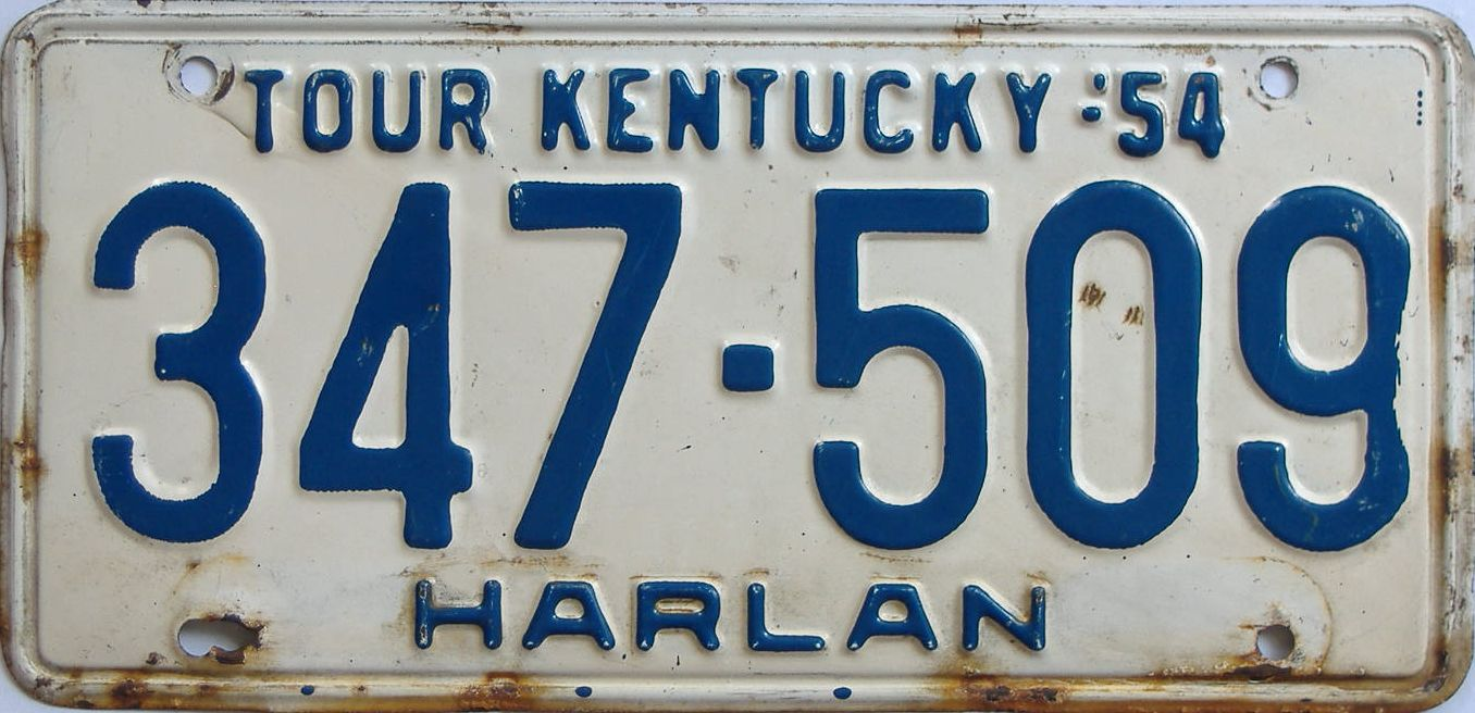 1954 Kentucky license plate for sale