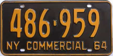 1964 New York (Truck) license plate for sale