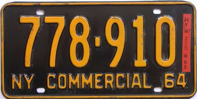 1965 New York  (Non Passenger) license plate for sale