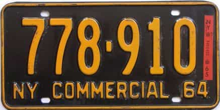1965 New York  (Truck) license plate for sale