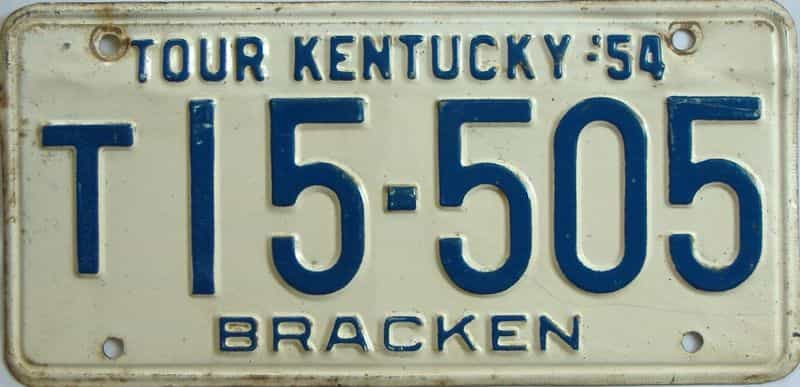1954 Kentucky (Truck) license plate for sale