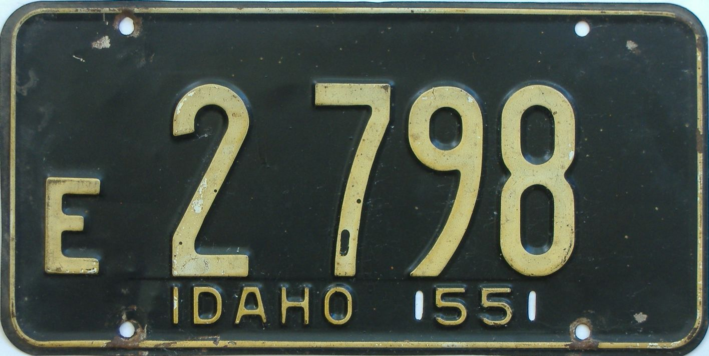 1955 Idaho (Single) license plate for sale