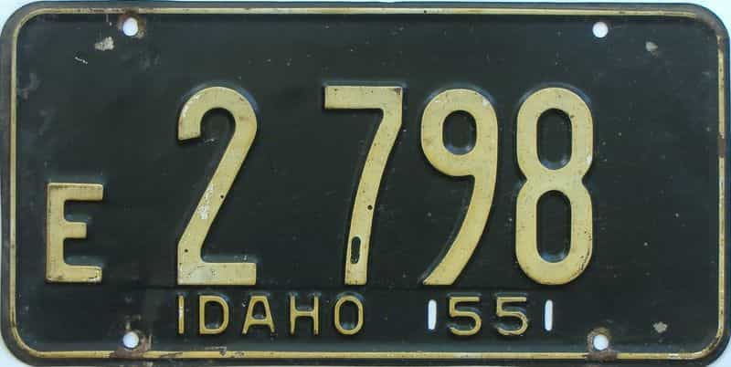 1955 ID (Single) license plate for sale