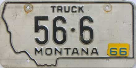 1966 Montana (Truck) license plate for sale