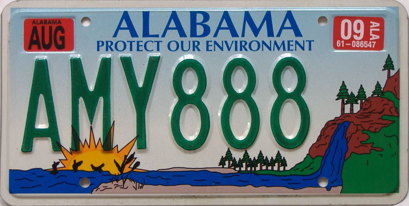 2009 AL (Natural) license plate for sale