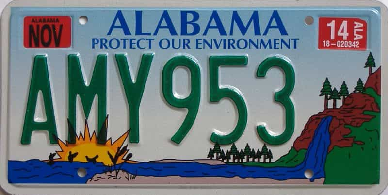 2014 Alabama (Natural) license plate for sale