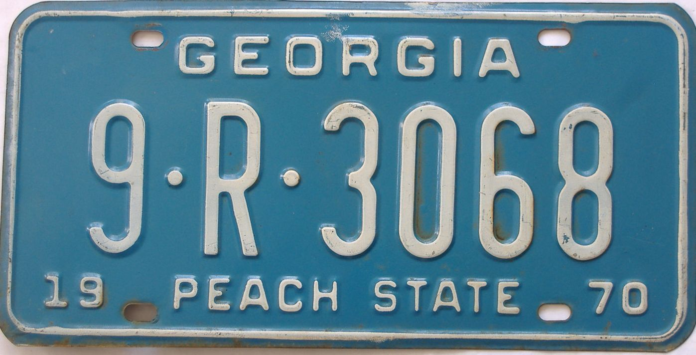YOM 1970 Georgia (Truck) license plate for sale