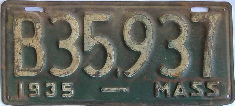 1935 MA (Truck) license plate for sale