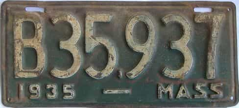 1935 Massachusetts (Truck) license plate for sale