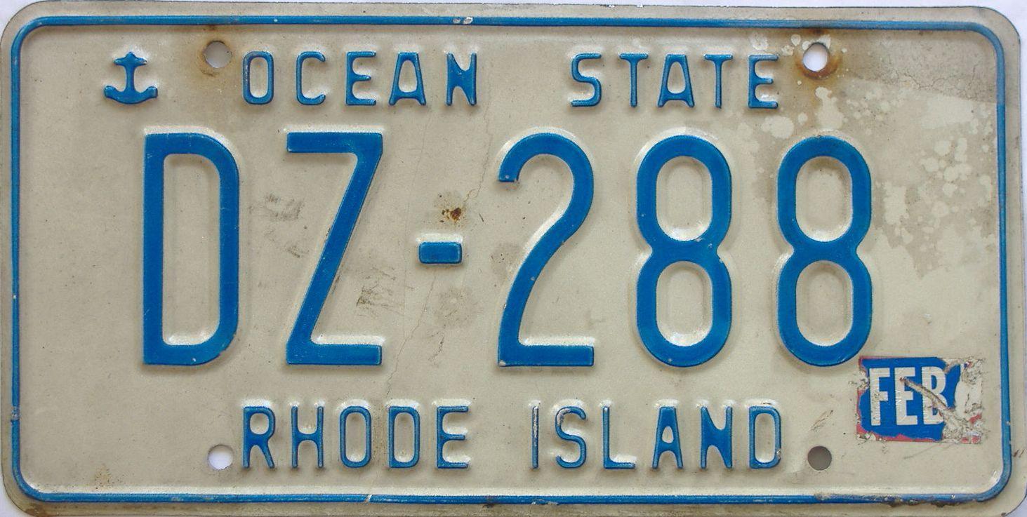 Rhode Island (Single) license plate for sale
