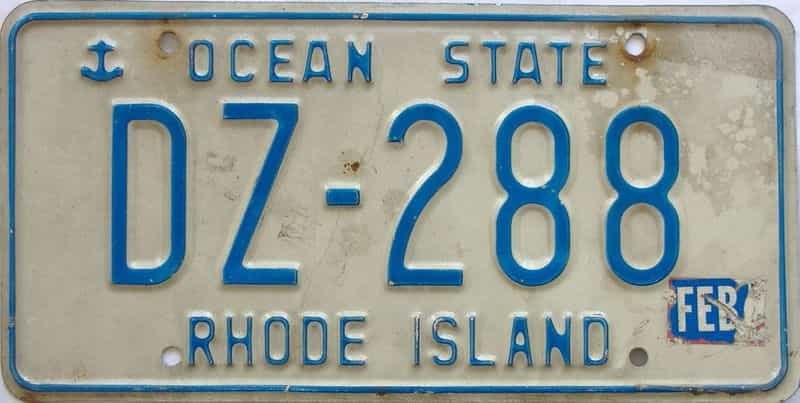 RI (Single) license plate for sale