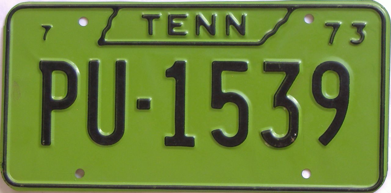 1973 Tennessee license plate for sale
