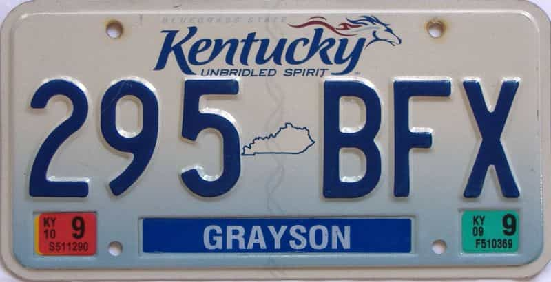2010 KY license plate for sale