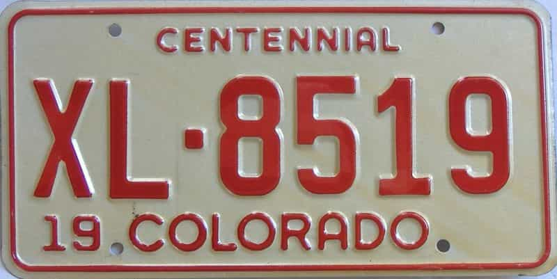 Colorado (Single) license plate for sale