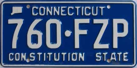 Connecticut (Single) license plate for sale
