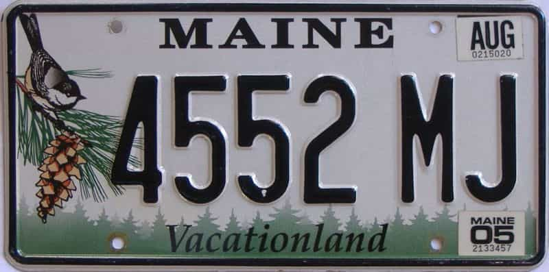 2005 Maine (Single) license plate for sale