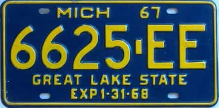 1967 Michigan (Truck) license plate for sale