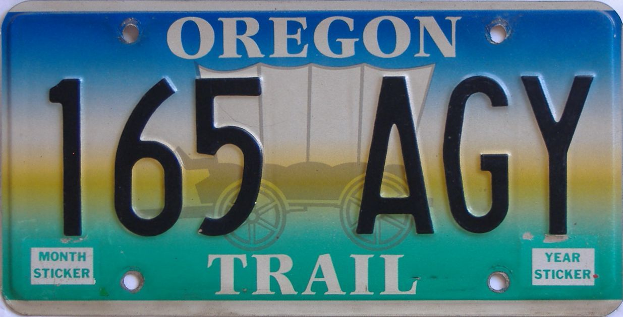 OR (Single) license plate for sale