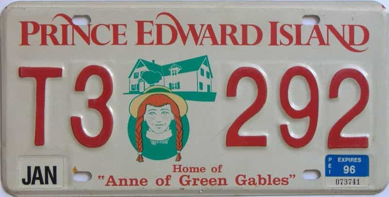 1996 PEI (Single) license plate for sale