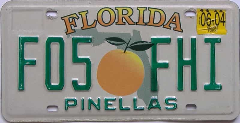 2004 Florida license plate for sale