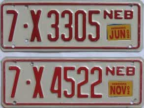 2002 Nebraska (Trailer) license plate for sale
