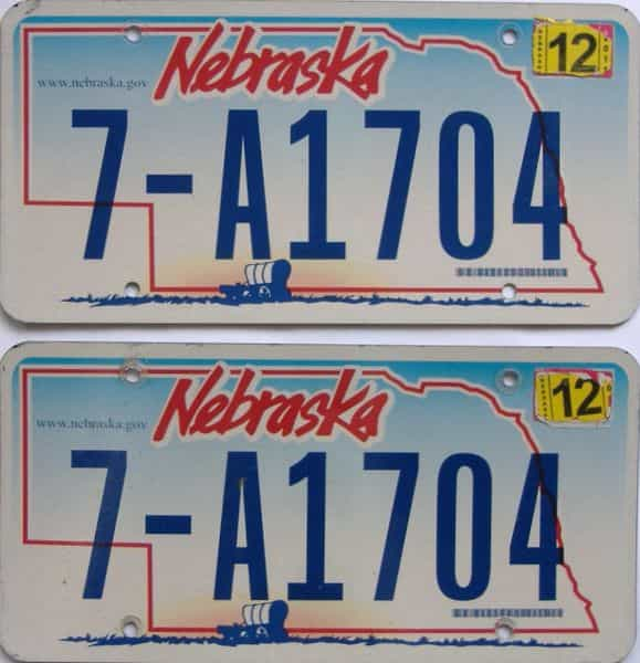 2011 Nebraska  (Pair) license plate for sale
