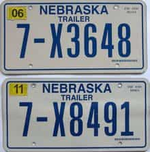 2011 Nebraska  (Trailer) license plate for sale